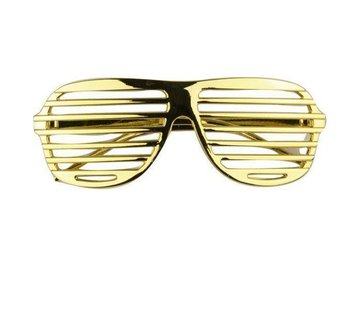 Partyline Disco Party Glasses Screen Gold
