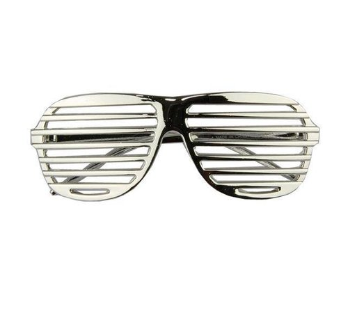 Partyline Disco Party Glasses Screen Silver | Shutter Shade Silver