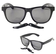 Partyline Glasses with Mustache Black | Black Glasses