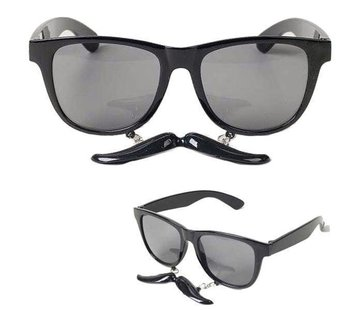 Partyline Bril met snor zwart | Zwarte Bril