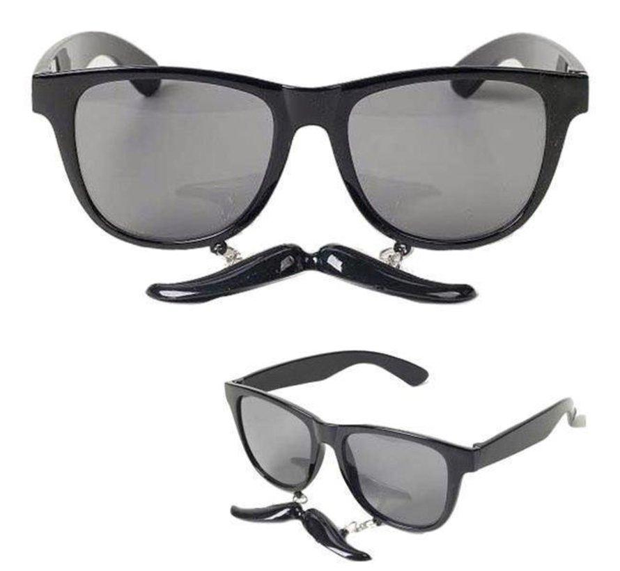 Bril met snor zwart | Zwarte Bril