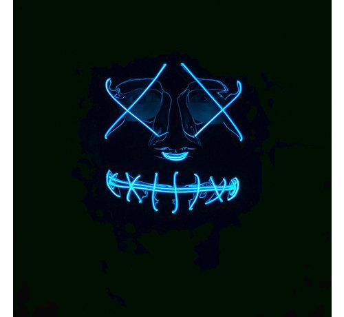 Wicked Costumes  El Wire Masker The Purge | Halloween Zwart masker met verlichting
