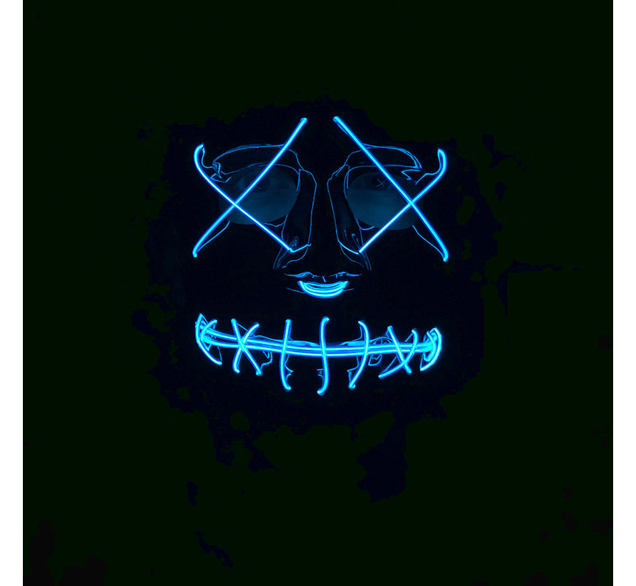 El Wire Mask The Purge | Halloween Black mask with lights