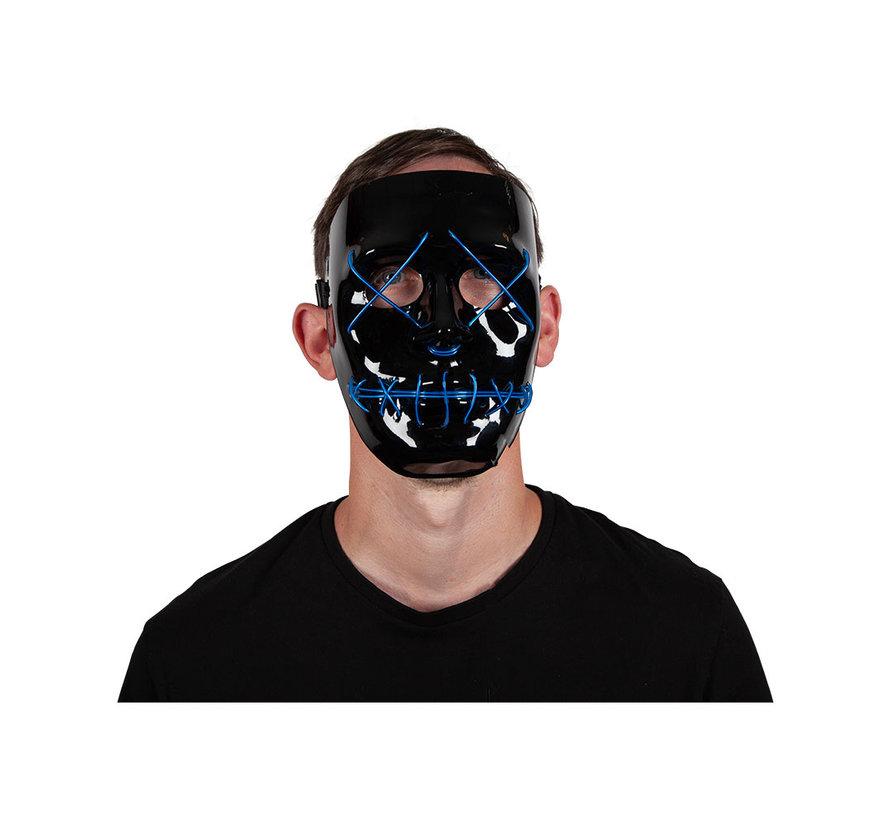 Masque El Wire The Purge | Masque noir d'Halloween avec des lumières