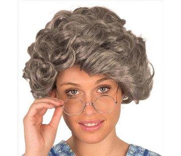 Partyline Pruik oude Vrouw