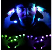 Breaklight.be Multicolor LED Gloves- White