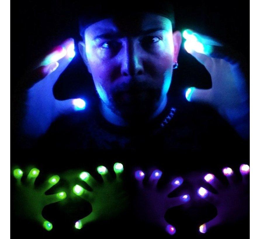 Paire de gants lumineux LED - Blanc