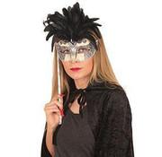 Venetian mask on stick