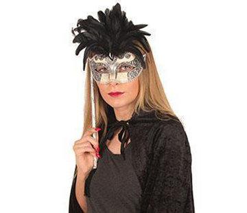 Masque vénitien sur bâton