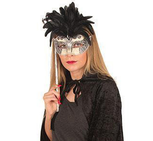 Partyline Masque vénitien sur bâton