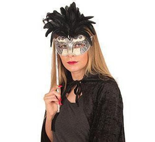 Partyline Venetiaans Masker met stok