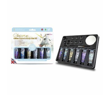PaintGlow PaintGlow Unicorn Glitter Face & Body Gel Kit