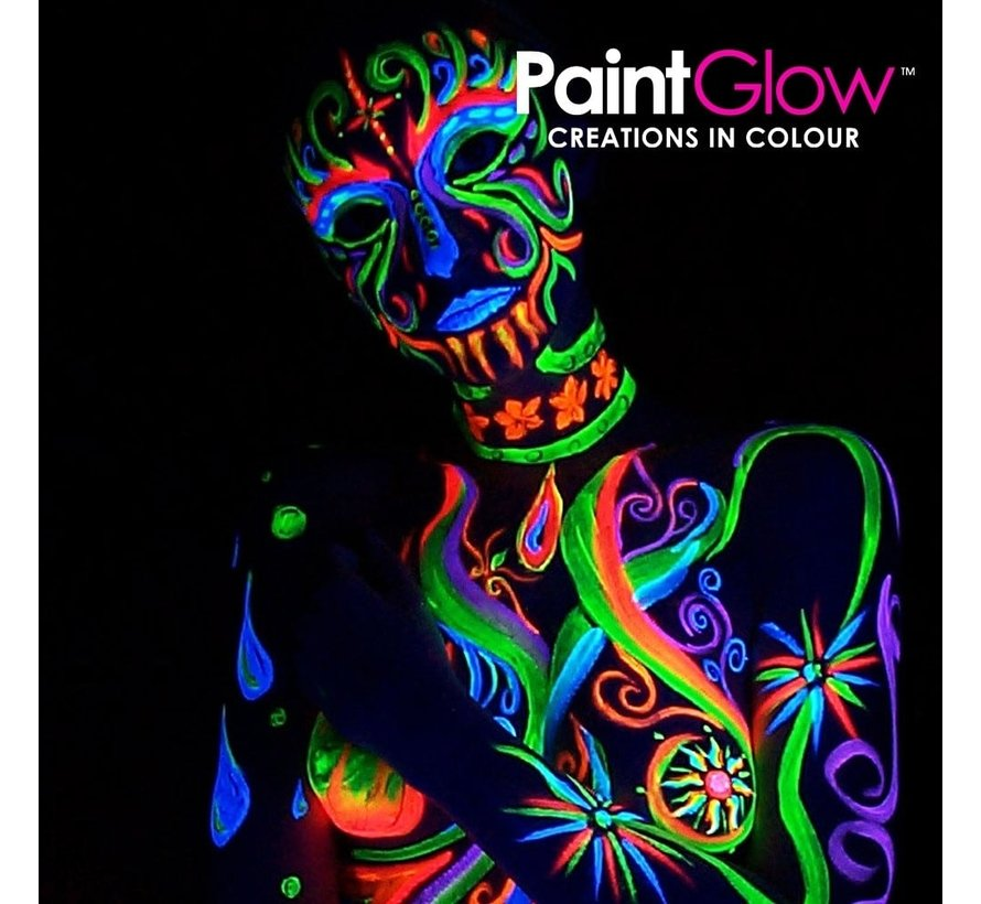 PaintGlow Neon UV Face & Body Paint  3 x 13 ml