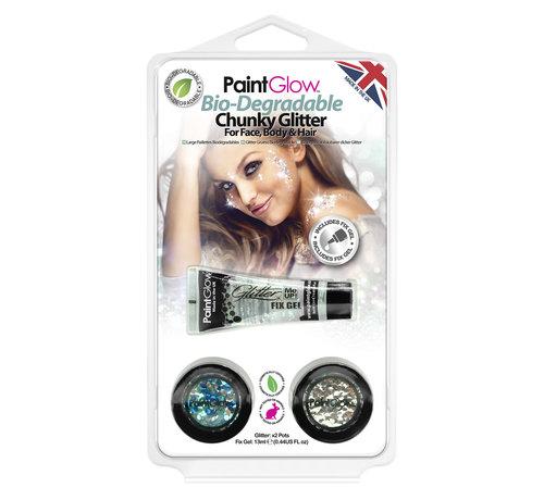 Love Shy Cosmetics PaintGlow Bio Degradable  Chunky glitter set