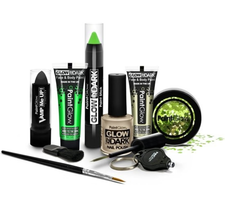 PaintGlow Glow In The Dark set - Ultimate make-up kit