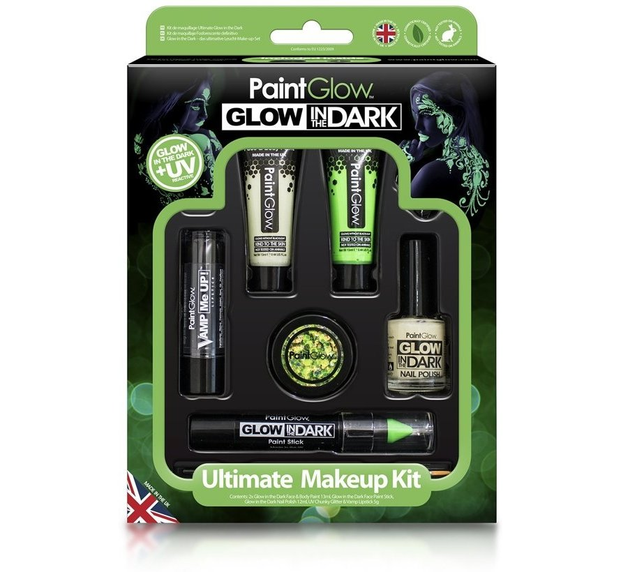 PaintGlow Glow In The Dark set - Ultimate make-up kit