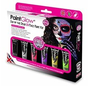 PaintGlow PaintGlow Day of the Dead UV face paint set