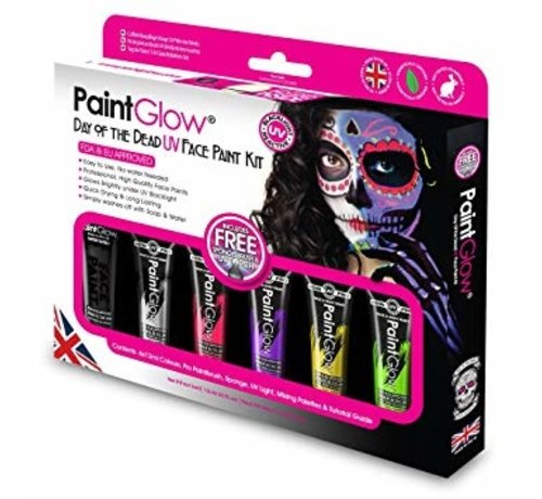 Love Shy Cosmetics PaintGlow Day of the Dead UV face paint set