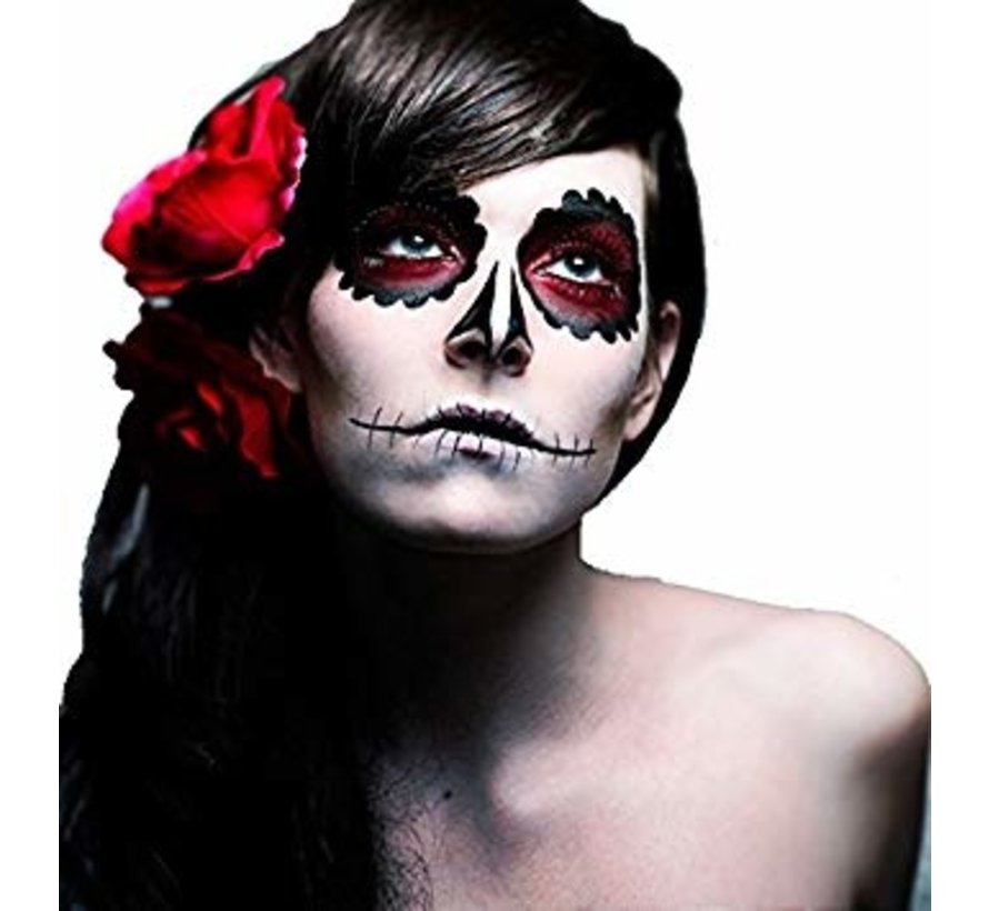PaintGlow Day of the Dead UV face paint set