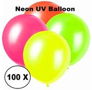 Breaklight.be Ballons UV au néon - 100 pièces - 4 couleurs