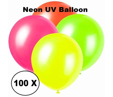 Breaklight.be Neon UV balloons - 100 pieces - 4 colors