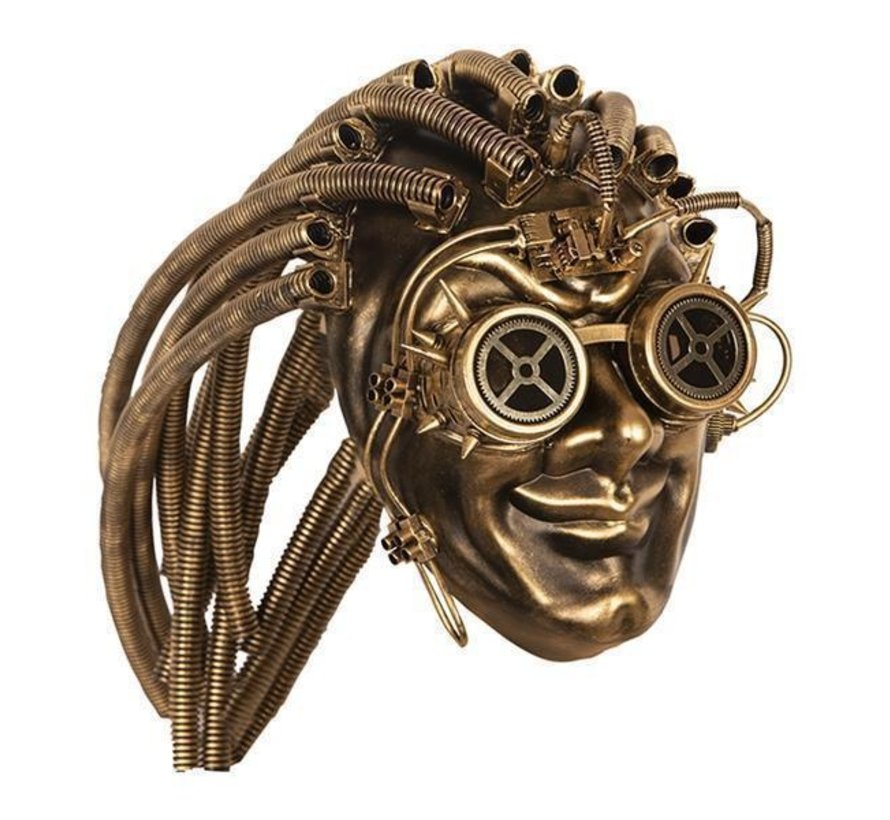 Steampunk Masker Goud