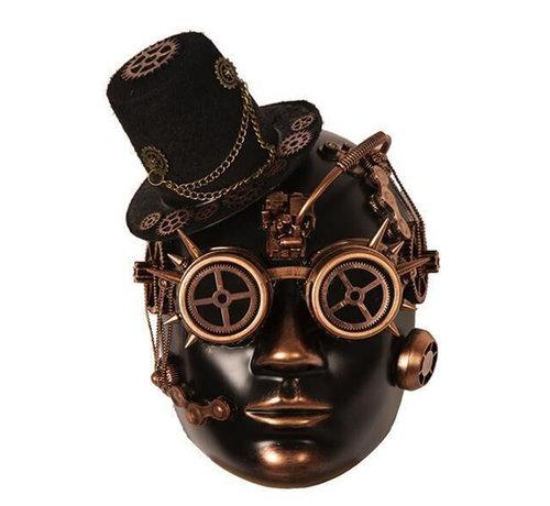 Partyline Steampunk Mask Gold Bronze