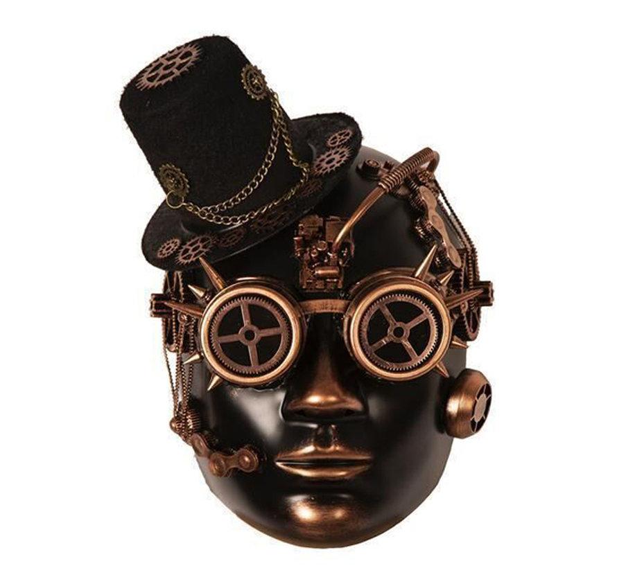 Steampunk Mask Gold Bronze