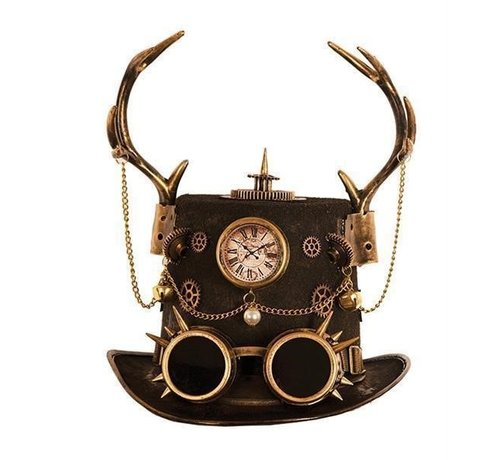 Partyline Steampunk hat with antlers