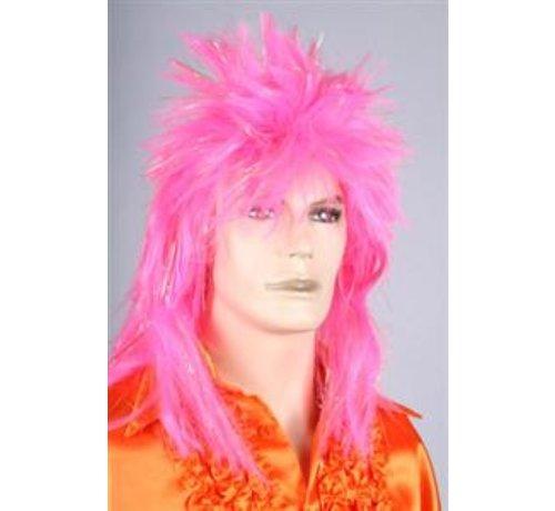 Disco Pruik Roze