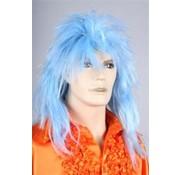 Disco Pruik Blauw