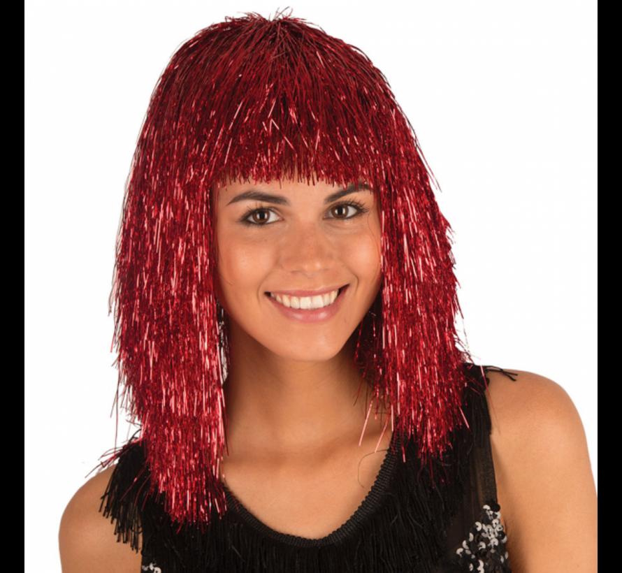 Perruque Disco Rouge