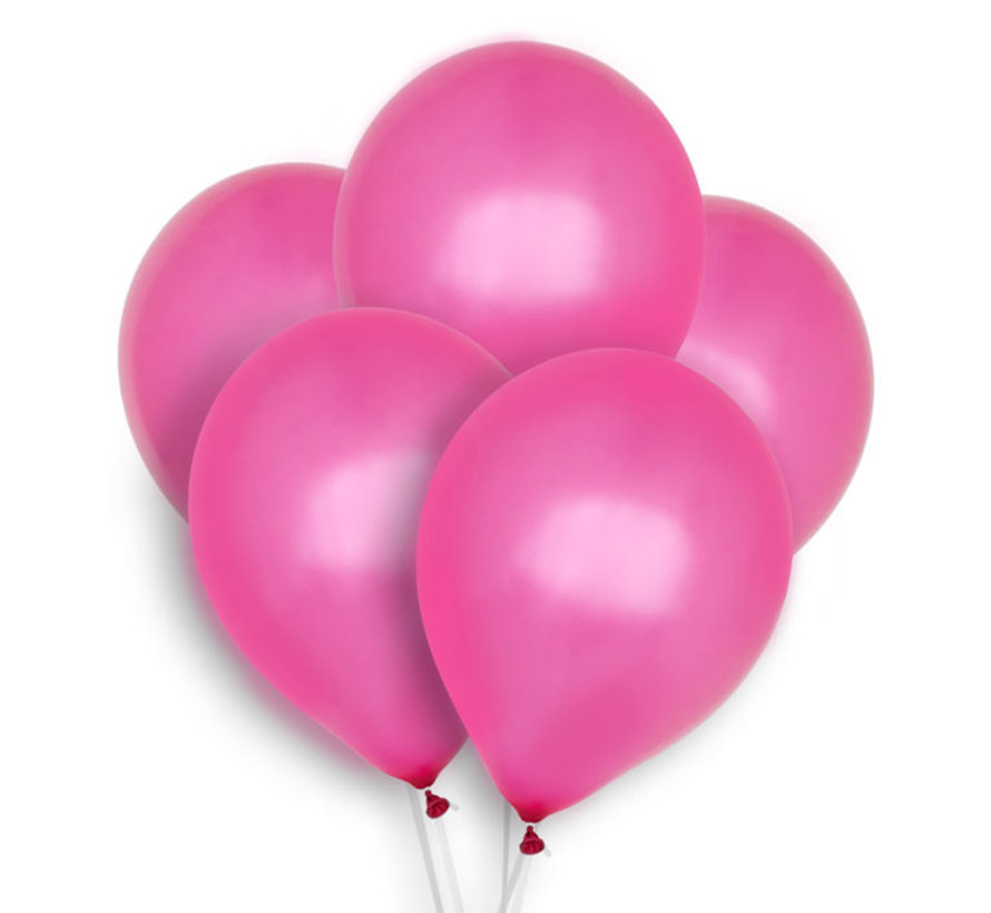 Fushia Balloons - 12 pieces