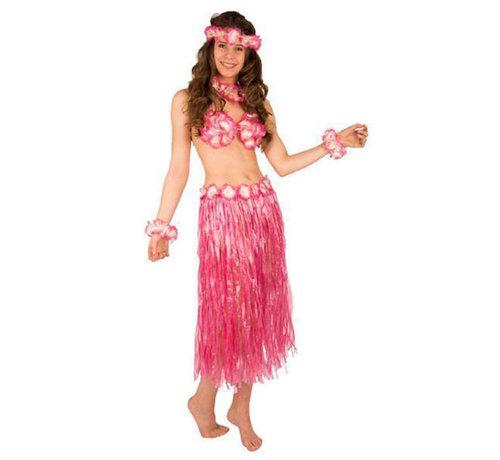 Partyline Hawaii set Roze ( 5- delig )