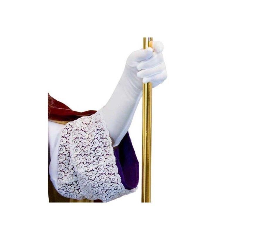 Witte Lange Handschoenen  55cm