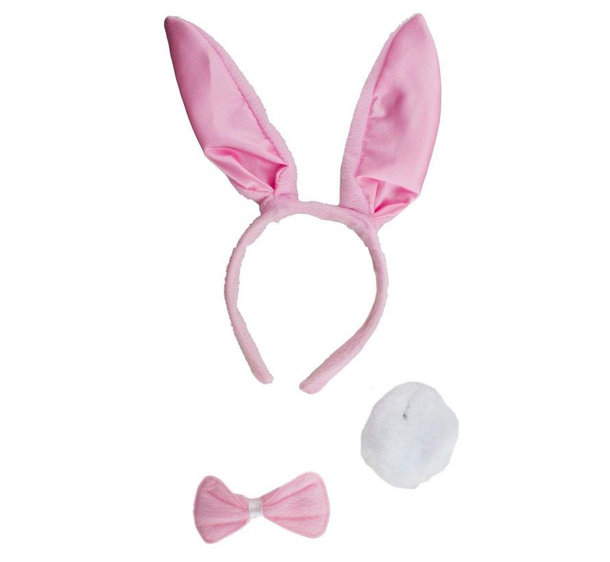 Bunny set Rose 3 pieces