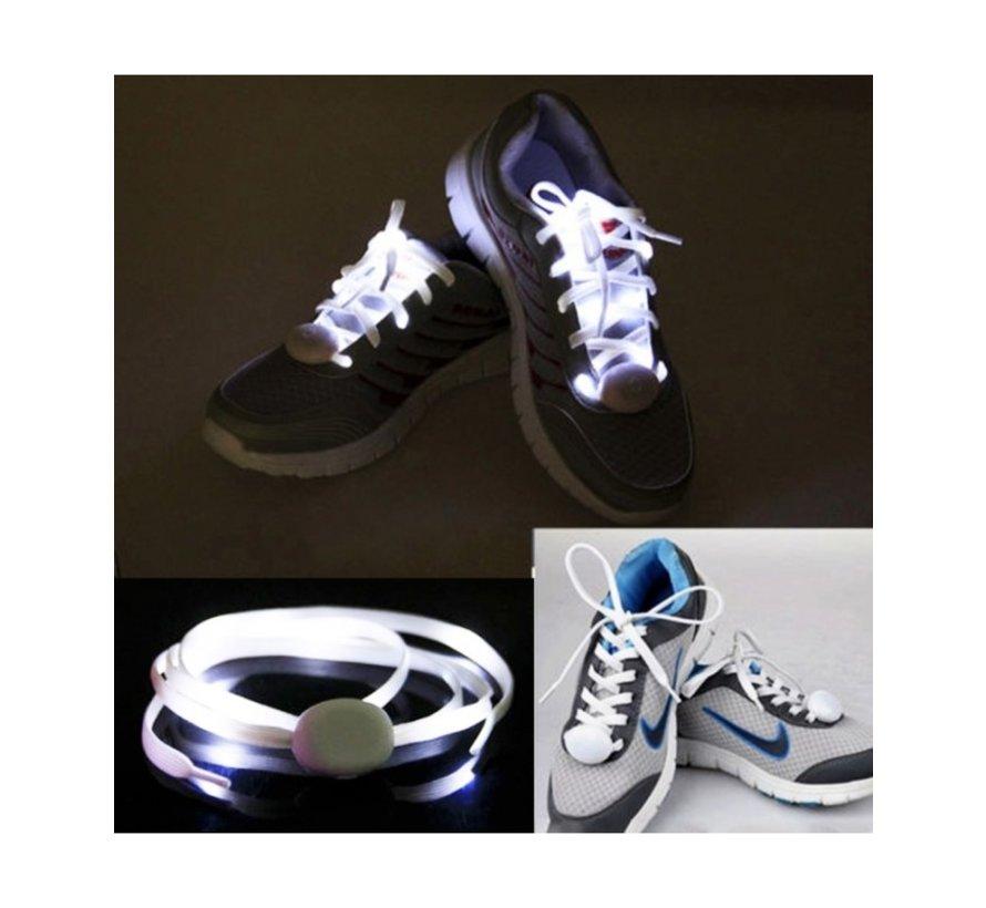 White LED Shoe Laces - 120 cm