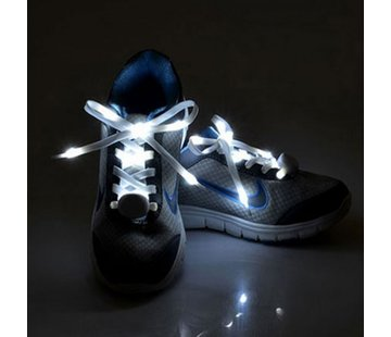 Breaklight.be LED Lacets de chaussures Blancs