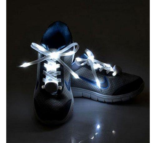 Breaklight.be Witte LED Schoenveters  - 120 cm