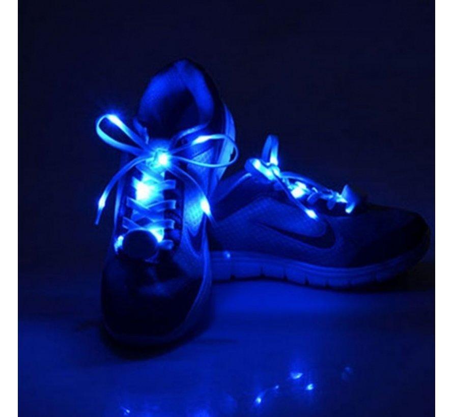 Blue LED Shoe Laces - 120 cm