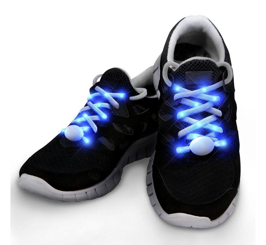 Blauwe LED Schoenveters  - 120 cm