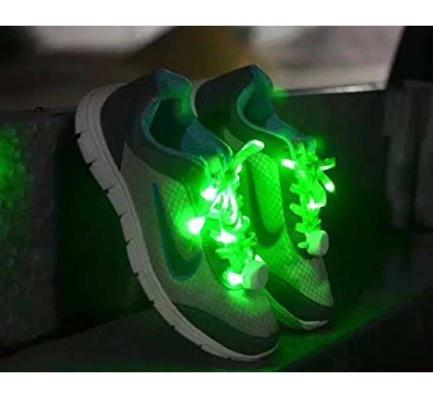 Green LED Shoe Laces - 120 cm