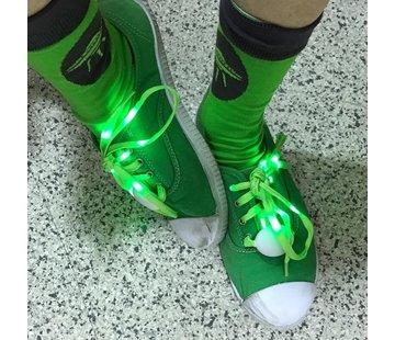 Breaklight.be LED Lacets de chaussures Vert