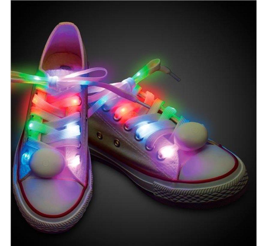 Multi LED Shoe Laces - 120 cm