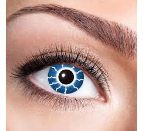 Eyecatcher Blue Thunder | 3 mois lentilles de couleur bleue | Lentilles de contact