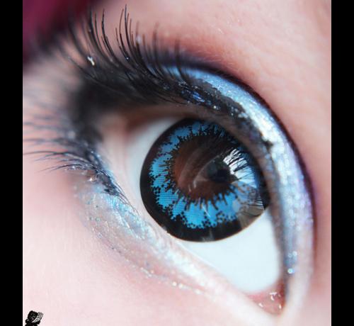 Eyecatcher Angel | 3 maand Blauwe kleurlenzen | Contactlenzen