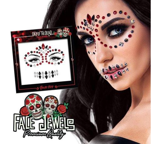 Fright Fest Gezicht Juwelen | Day Of The Dead