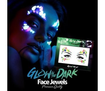 Fright Fest Face Jewels | Glow In The Dark