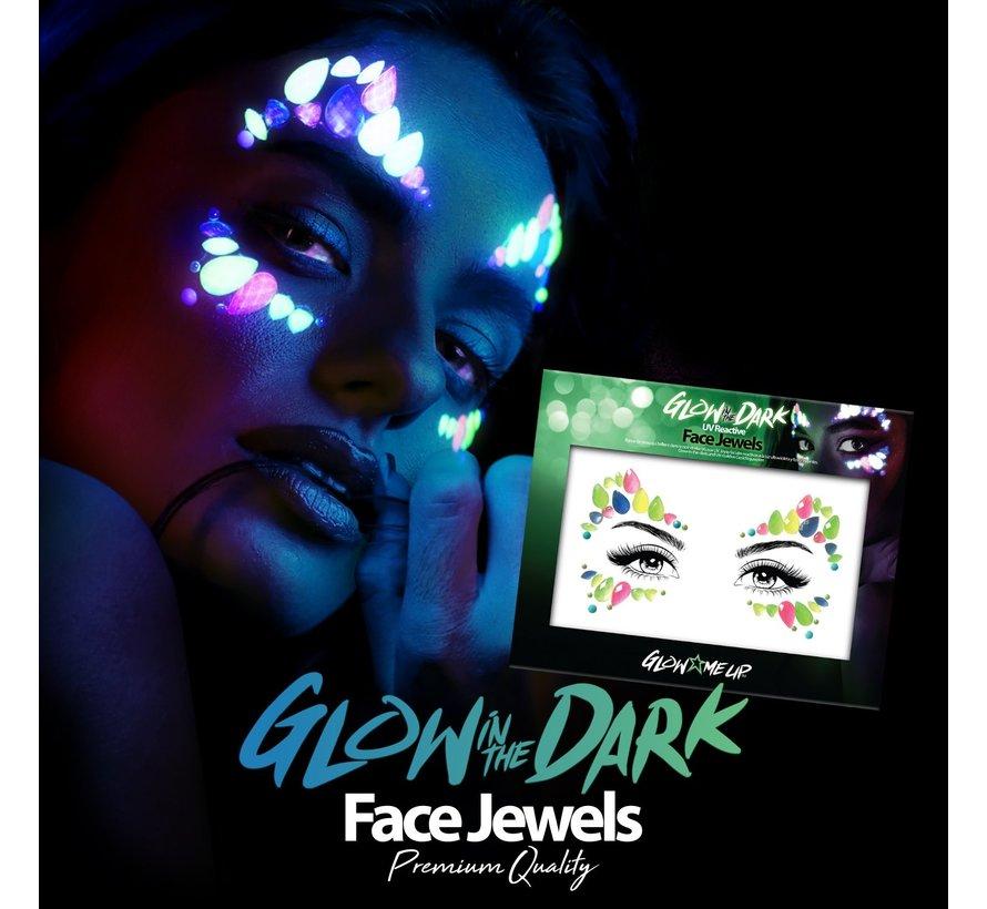 Gezicht Juwelen | Glow In The Dark