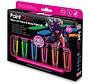 Neon UV Face & Body Paint 6 x13ml - avec pinceau, éponge et mini lumière noire